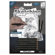 Royal Brush 422137 Mini Sketching Made Easy Kit 5 in. x 7 in. -Dolphins