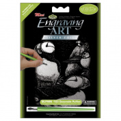"""Mini Silver Foil Engraving Art Kit 13cm X7""""-Oceanside"""