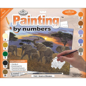 Royal & Langnickel Painting by Numbers Junior Large Art Activity Kit, Sunset On Kilimanjaro
