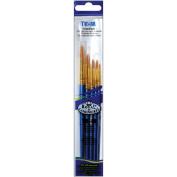 Royal Brush 427161 Brush Set Value Pack Taklon 5-Pkg-Round 1 3 5 7 9