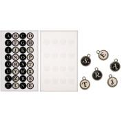 Idea-Ology Type Charms .17460cm 16/Pkg-32 Alphabet Stickers & 16 Epoxy Stickers