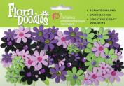 Flora Doodles Jewelled Florettes-Lavender, Purple