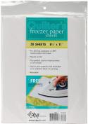 C & T Publishing Quilter's Freezer Paper Sheets, 22cm x 28cm , 30/pkg