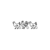 Sten Source 263383 Quilt Stencils-5 in. Chicken Border