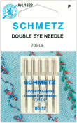 Euro-Notions Double Eye Machine Needles, Size 80/12, 5/pkg