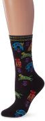 K Bell SOCKS-1086B Laurel Burch Socks-Dog Portraits-Black