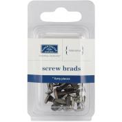 Screw Brads 40/Pkg-