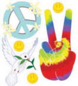 Jolee's Boutique Dimensional Stickers-Peace