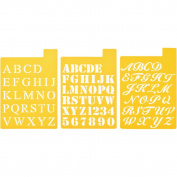 Stencil Mania Stencils 18cm x 25cm 3/Pkg-Fonts 2.5cm