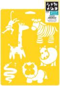 Stencil Mania Stencil 18cm x 25cm -Wild Animals