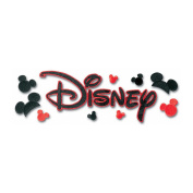 Disney Title Dimensional Stickers-Embroidered Disney