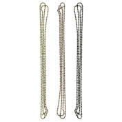 Idea-Ology Ball Chain 90cm 3pk Each with 6 Connectors-Antique Nickel, Brass and Copper