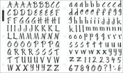 Ek Success SPSRO-14P Sticko Susy Ratto Brush Letter Stickers 1