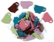Shaped Brads-Vintage Tea Cups 25/Pkg