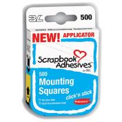 Click 'n Stick Permanent Mounting Squares 500/Pkg-White .13cm X.13cm
