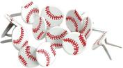 Eyelet Outlet Brads-Baseball 12/Pkg