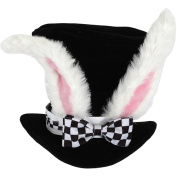 Alice In Wonderland White Rabbit Topper Hat Adult Halloween Accessory