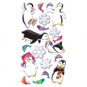 Sticko Puffy Dimensional Stickers-Winter Fun Penguins