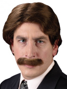 21ms Wig and Moustache Set Adult Halloween Accessory