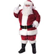 Santa Plush Crimson Adult Halloween Suit
