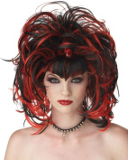 Costumes For All Occasions MR177152 Wig Evil Sorceress Black Red