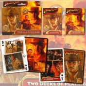 Indiana Jones Saga & Crystal Skull Poker Size Playing Cards, 2-Decks
