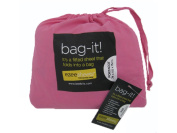 Ezeesheets bag-it! Portacot Fitted Sheet Pink