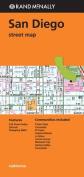 Folded Map San Diego Streets CA