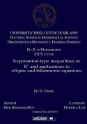 Exponential-type Inequalities in Rn and Applications to Elliptic and Biharmonic Equations