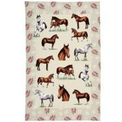 Horses Linen Tea Towel