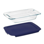 Pyrex Easy Grab 1.9l Oblong with Blue Plastic Cover
