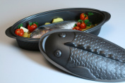 Silikomart Silicone Pratika Collection Fish Baking Dish, Metallic Grey