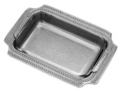 Wilton Armetale Flutes and Pearls Baking Dish, Rectangular, 26.7cm by 36.2cm
