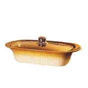 Essential Décor Entrada Collection GL89676 Ceramic Rectangular Casserole Dish with Cover, 43.2cm