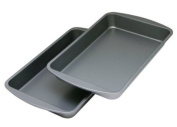 OvenStuff Non-Stick 27.7cm x 17.8cm Biscuit/Brownie Pan Two Piece Set