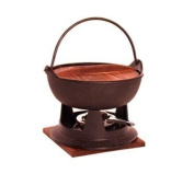 Round 1890ml Fondue Set With Stand/Pot With Handle/Wood Cover