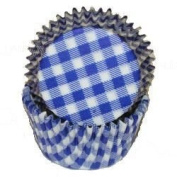 Blue Gingham Cupcake Baking Liners Standard Size 50 count