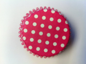 Pink Polka Dot Baking Liners Cupcake Muffin Cups 50 count Greaseproof