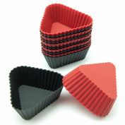 Freshware CB-307 12-Pack Triangle Silicone Reusable Baking Cup