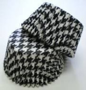 Black Houndstooth Cupcake Liners Standard Size 50 count