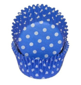 Blue Polka Dot Cupcake Liners STD 50 count