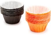 Wilton 415-0453 Halloween Assorted Black and Orange Ruffled Standard Baking Cups, 24 Count