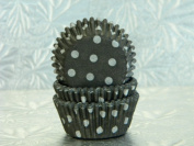 Mini Black White Polka Dot Cupcake Cups Baking Liners 100 count