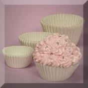 500ea - 1-5/8 X 15/16 White Cupcake Baking Cup