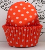 Goldas Kitchen Baking Cups - Polka Dot - Orange