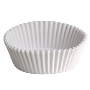 Hoffmaster BL350-6.5 6-1.3cm White Dry Fluted Paper Bake Cup 500-Pack