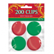 Amscan International Petit Four Case, Red and Green