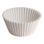 Hoffmaster BL100-2-1/2SP Fluted Bake Cup, 3/240ml Capacity, 2-1.3cm Diameter x 1.9cm Height, White