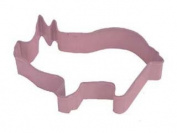 Pink Pig Cookie Cutter Polyresin Coated 9.5cm