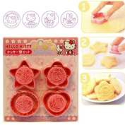Sanrio Hello Kitty Cookie Cutter and Stamp Set